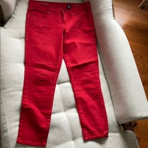 J Crew Red Jeans